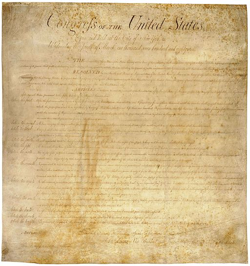 The US Bill Of Rights