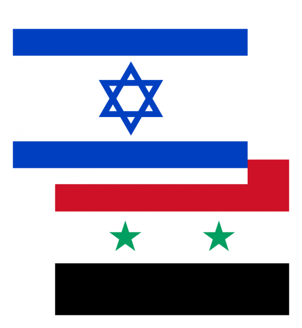 Israel-Syria_flages