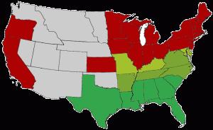 civil war secession map