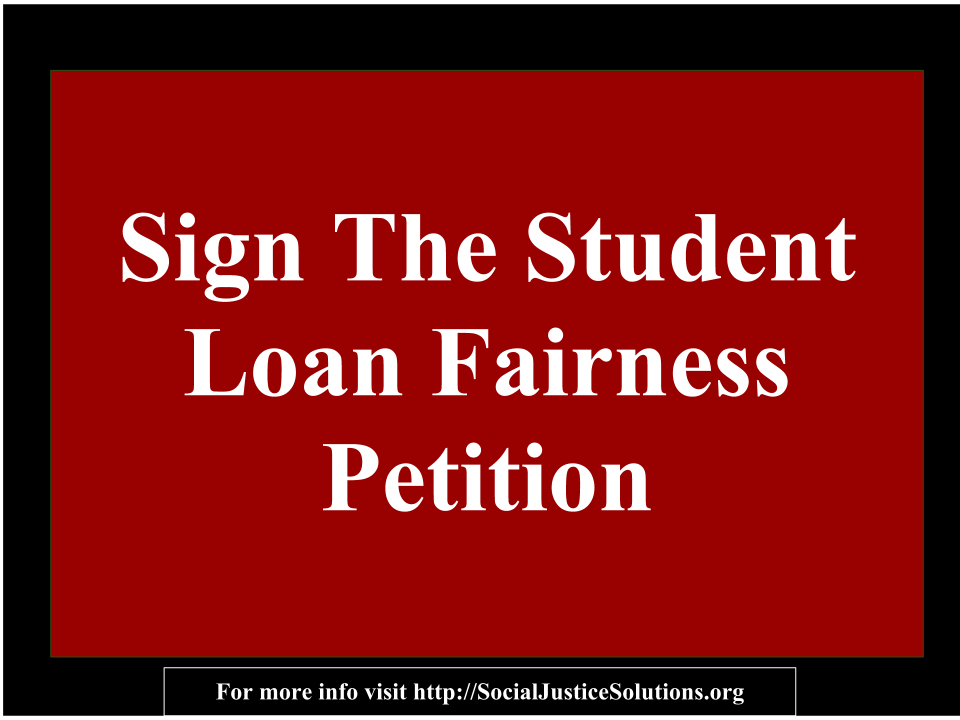 Student Loan Fairness Act Petition