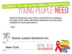 AIDS free generation pledge