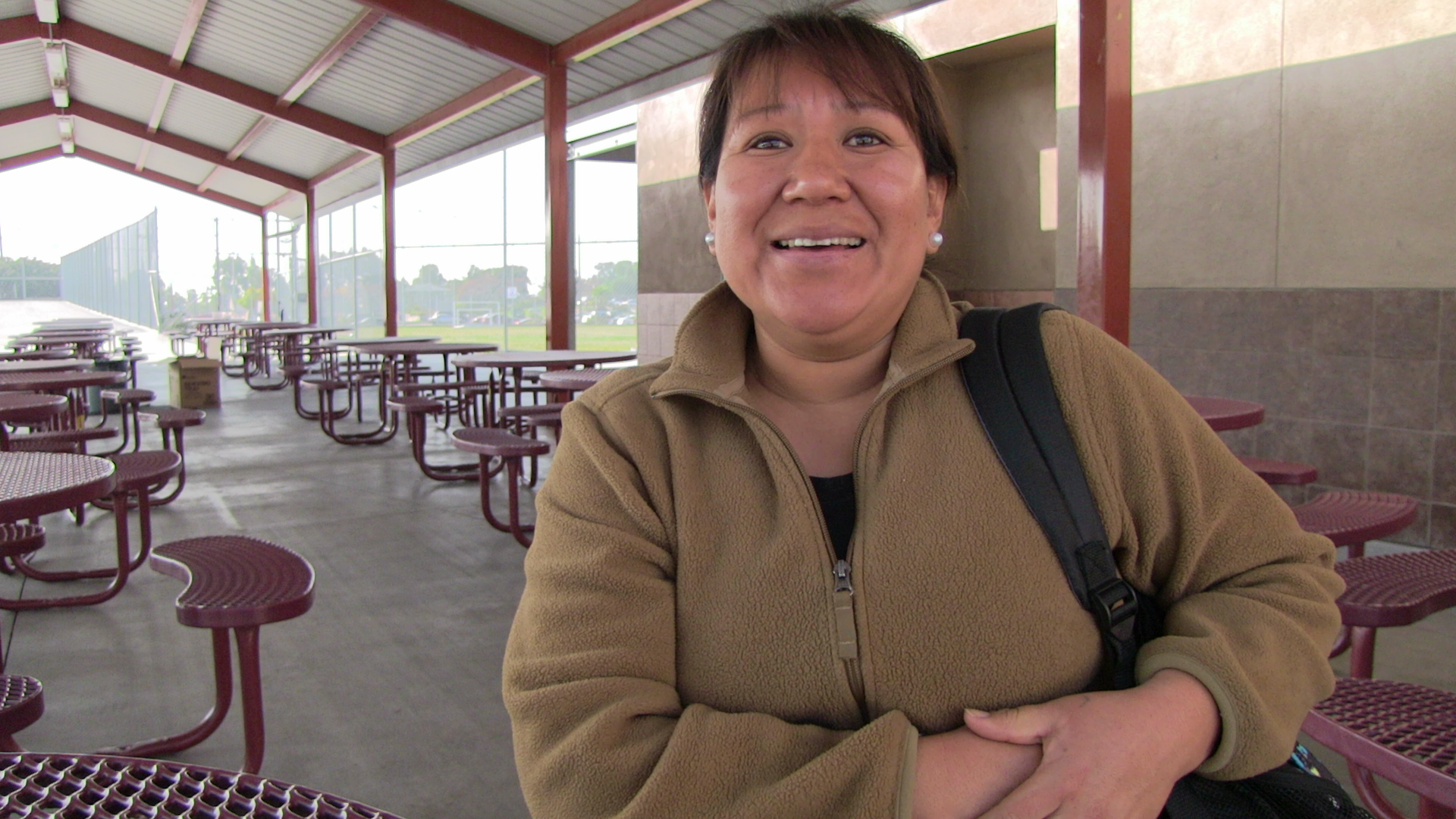 """Luz Vidal, who leads the school's parents' organization, has two children at Cherokee Point. """"The school keeps us very well informed, and is always willing to have us here,"""" she says. In other schools, """"some principals will sit in their office and you never see them. But Principal Higa is always out; he's very involved."""""""