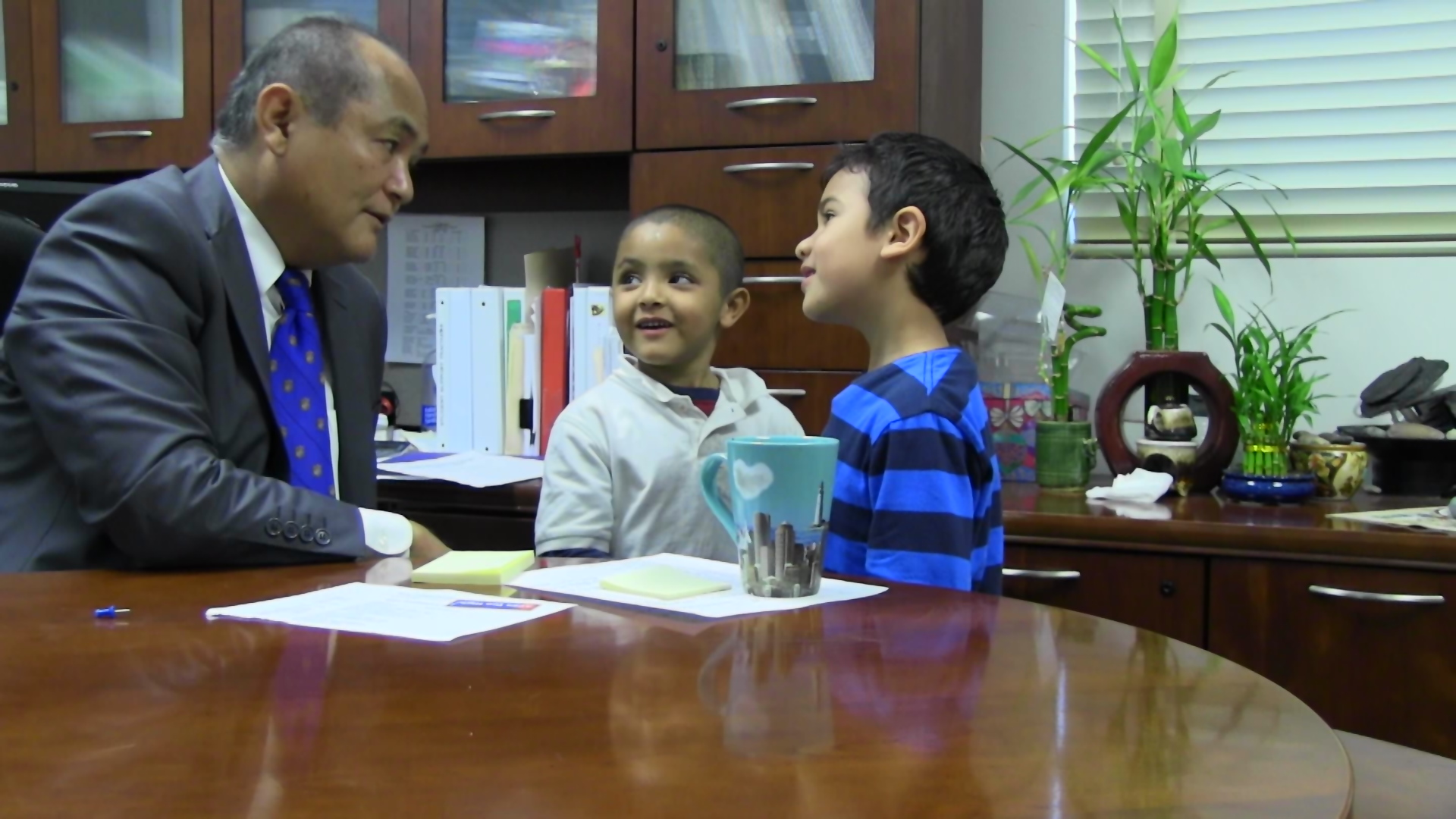 After a tussle on the playground, these two kindergarteners were sent to the principal's office. After going through the restorative practices exercise, they decided to become best friends.
