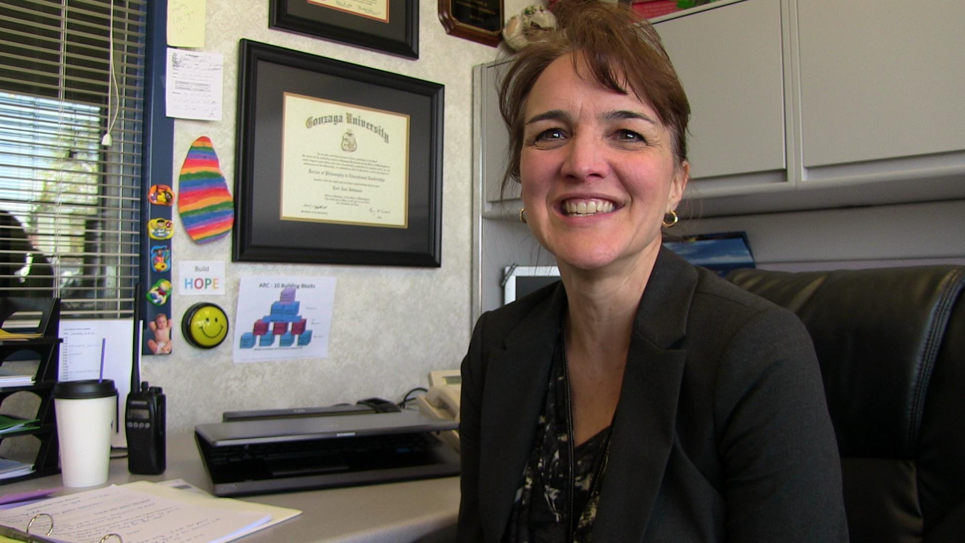Lori Johnson, principal of Broadway Elementary School.