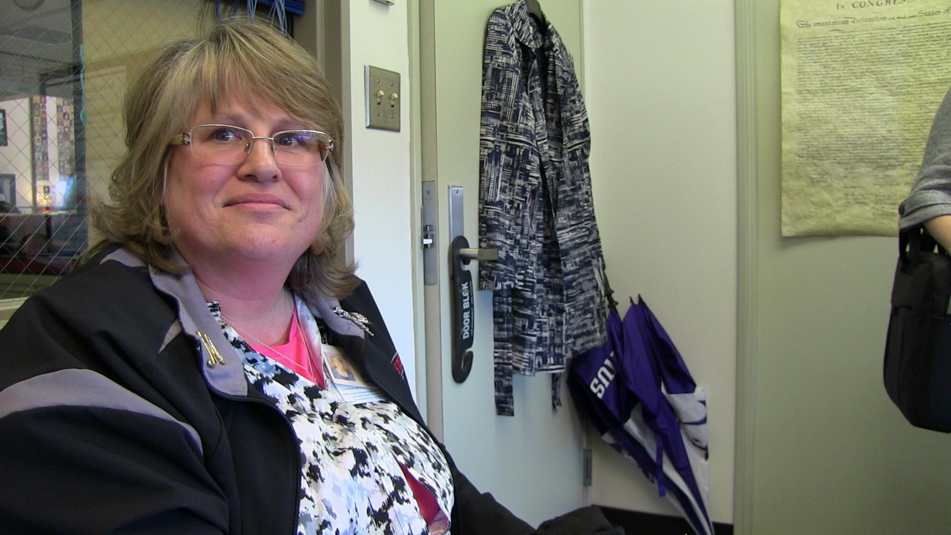 Melissa Charbonneau, public health nurse assigned to Whitman Elementary School.